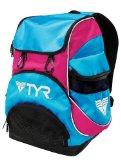 TYR Alliance Team Mini Backpack (Blue/Pink, 16.5 x 11.25 x 8.75-Inch)