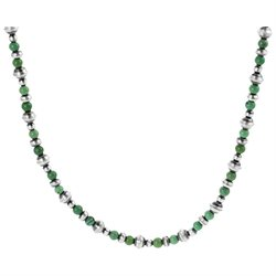 Tressa Sterling Silver Genuine Green Turquoise Necklace