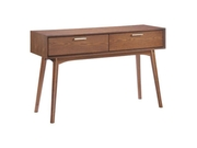Zuo Modern Design District Console Table 2 Drawers Walnut Finish