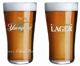 Yuengling Traditional Lager Pint Glasses - Set of 2 Tumblers