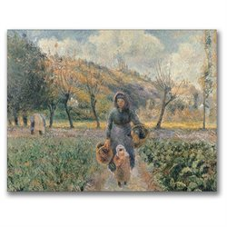Camille Pissarro 'In the Garden' Canvas Art