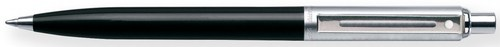 Sheaffer E23211151 Sentinel Ballpoint Pen - Black Ink - Nickel Plate Trim - Black Resin Barrel - Chrome Cap