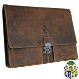 BARON of MALTZAHN Men's briefcase - Portfolio bag SEMMELWEIS 2.0 Grassland-Leather brown