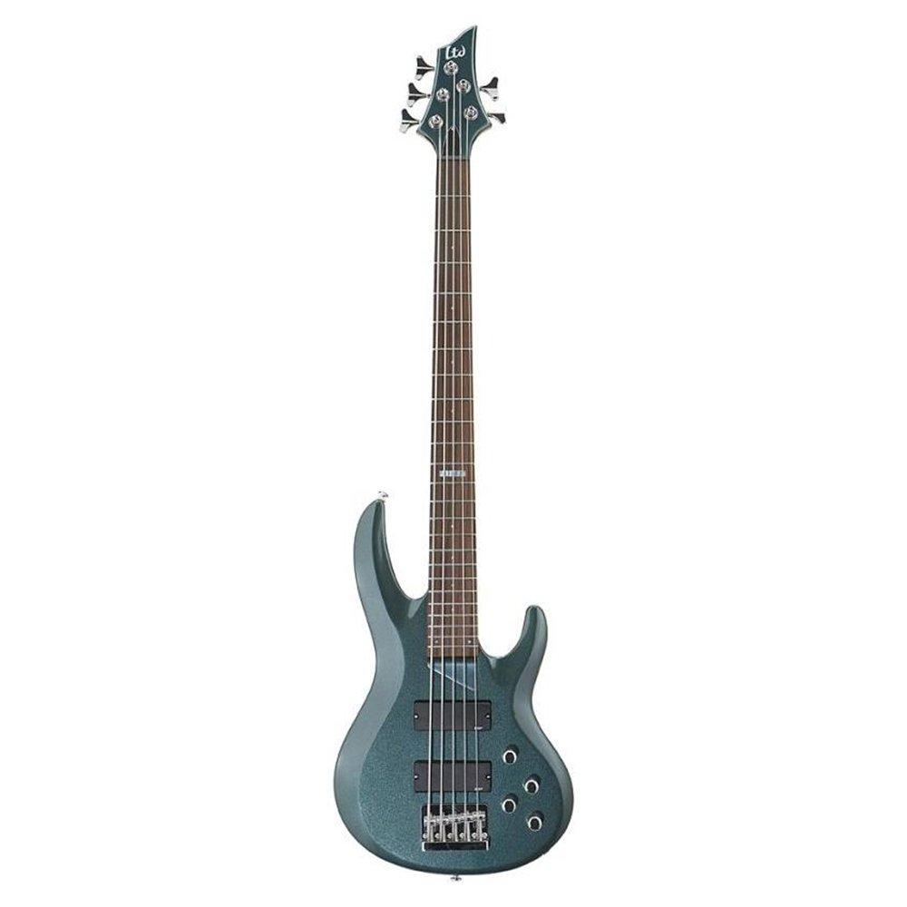 ESP LTD B-105 5-String Bass Guitar Gunsmoke Blue