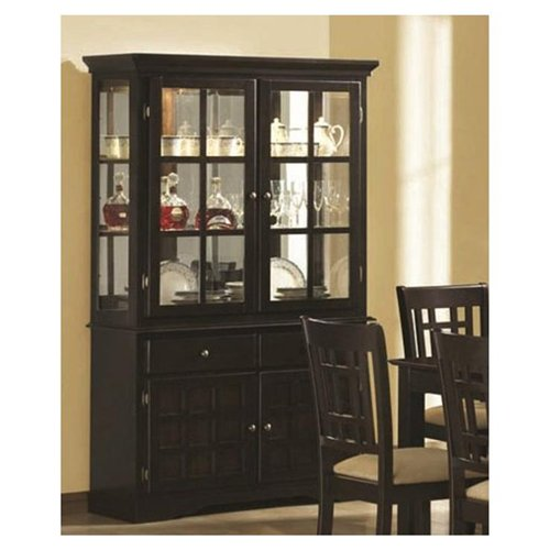Baldwin Buffet and Hutch with 2 Glass Doors