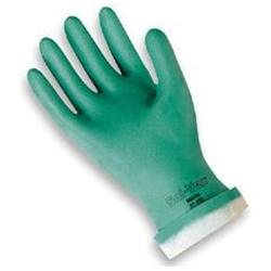 Ansell Size 10 Green Sol-Vex 13 Flock Lined 15 Mil Nitrile Glove 1 Pair