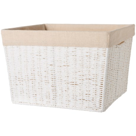 Parchment Cord Basket With Liner - Large