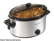 Hamilton Beach  33262a  Metallic  6 Qt Stay Or Go Slow Cooker