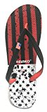 Fresko Men's Patriotic Flip Flop, Red/White (Black Stars & Stripes), Size 12