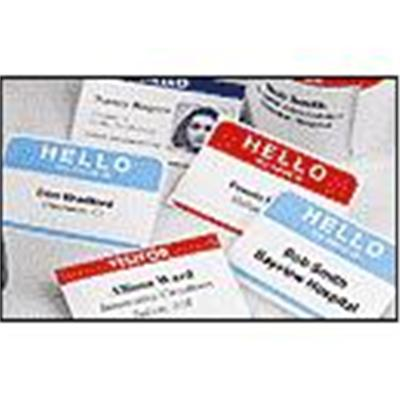 Dymo 30857 Name Badge With Clip Hole - Black On White - 2.25 In X 4 In 250 Label(s) (1 Roll(s) X 250) Name Badge Labels - For  Desktop Mailing Solution Twin Tur
