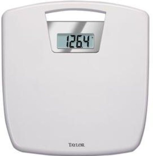 Taylor 7048-4012 Digi Body Weight Scale With Antimicrobial Platform - White