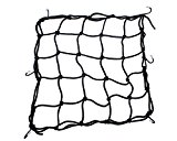 Heavy-Duty 15 Cargo Net for Motorcycles, ATVs - Stretches to 30 (Black)