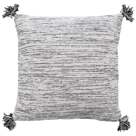 Textured Black And White Throw Pillow - 20x20?, Feathers