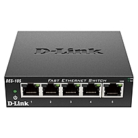 P The D Link DES 105 is a 5 port, Fast Ethernet desktop switch for the SMB and enterprise seeking a metal housed, Plug and Play solution capable of providing reliable connectivity for network users