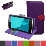 Alcatel One Touch Pop 3 5.0 Case,Mama Mouth [Stand View] Folio Flip Premium PU Leather [Wallet Case] With Card Slots and Inner Pocket Cover For Alcatel One Touch Pop3 5.0 inch Smartphone,Purple