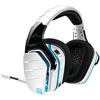 """Logitech G933 Artemis Spectrum And Artemis Spectrum Snow Wireless 7.1 Gaming Headset - Stereo - White - Usb, Mini-phone, Rca - Wired/wireless - 65.6 Ft - 39 Ohm - 20 Hz - 20 Khz - Over-the-head - Binaural - Circumaural - 0.14"""" Cable 981-000620"""