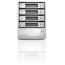 Hitachi G-SPEED Q GSPSPQNB120004BDB DAS Array - 4 x HDD Installed - 12 TB Installed HDD Capacity - Serial ATA/600 Controller - 4 x Total Bays - eSATA, FireWire/i.LINK 800, USB 2.0 Desktop