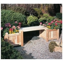 21 Natural Cedar Outdoor Garden Patio Wooden Square Flower Planter
