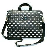 Kate Spade Chad Nylon Bow Shoppe Laptop Bag/ Messenger Bag (Black) #WKRU2113