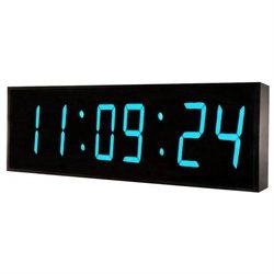 DBTech Huge 24 Inch Oversized Digital Blue LED Clock - Blue LED