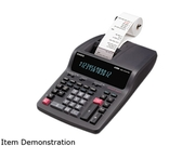 Casio DR210TM DR-210TM Two-Color Desktop Calculator, 12-Digit Digitron, Black/Red
