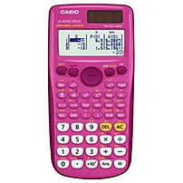 "Casio Fx-300esplus Scientific Calculator Pink - Protective Hard Shell Cover, Auto Power Off, Textbook Display, Dual Power, Independent Memory, Battery Backup - Battery/solar Powered - 3.2"" X 0.4"" X 6.4"" - Pink Fx-300esplus-pk"