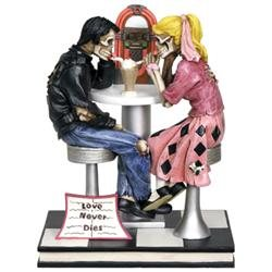 Figurine- Love Never Dies- 50's Skull Couple
