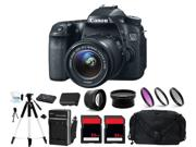 Canon Eos 70d Digital Camera   3 Lens 18-55mm   64gb Complete Bundle Kit