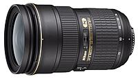 Fast, wide angle to medium Telephoto AF S zoom lens optimized for edge to edge sharpness on both the Nikon FX  23.9 x 36 mm  and DX format image sensors