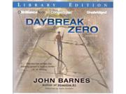 "Daybreak Zero Daybreak Unabridged Binding: CD/Spoken Word Publisher: Brilliance Audio Lib Edn Publish Date: 2011/04/06 Synopsis: The two tribes that formed after techno viruses destroyed everything electronic or mechanical must unite to prevent the ""Daybreakers,"" responsible for the first technological catastrophe, from striking again"