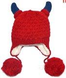HEBEW Red devil horns knit wool hat Children Cap Beanie(HEZ415)