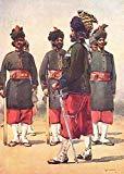 127 QUEEN MARY BALUCH LIGHT INF. Brahni Dera Ghasi Khan Subedar-Maj Khelat - 1911 - old print - antique print - vintage print - India art prints