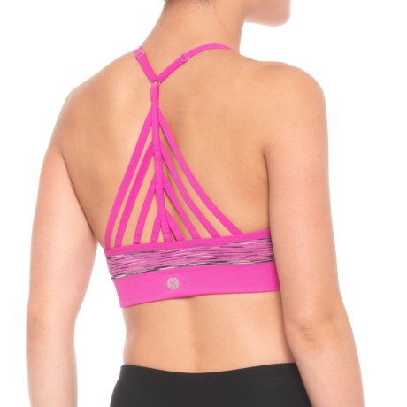 Seamless Fishbone Back Sports Bra - Removable Pads, Medium Impact (for Women)