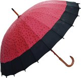 Japanese Umbrella -Cherry Blossoms Appear by Rain- Red/Pink/Violet