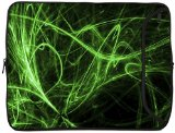 Designer Sleeves 15-Inch Green Neon Lights Laptop Sleeve (15DS-GNL)