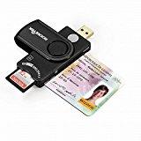 Memory Card Reader, Rocketek DOD Military USB Common Access CAC Smart Card Reader, compatible with Windows (32/64bit) XP/Vista/ 7/8/10