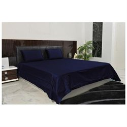 1000 Thread Count Solid Sheet Set in King Size - 100% Egyptian Cotton