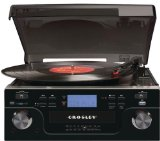 Crosley CR6008A-BK Tech Turntable with CD Player and USB/SD Card Reader to Transfer Albums to Memory Card (Black)