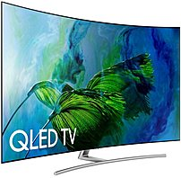 Samsung Qn55q8camfxkr 55-inch Curved 4k Uhd Smart Qled Tv - 3840 X 2160 - 240 Hz - 16:9 - Wi-fi, Bluetooth - Hdmi, Usb - Sliver