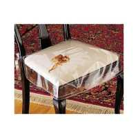 Clear Vinyl Chair Protectors - Set Of 2 (Clear) Fits Chairs Up To 21