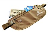 NEW Mighty Safe Undercover Money Belt, Travel Security Pouch, Waist Hidden Bag, Best Passport Holder, Travel Wallet for Mens and Womens