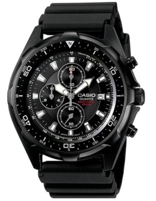 Casio Amw330b-1av Analog Wrist Watch With Rotating Bezel - Sports Chronograph - Black