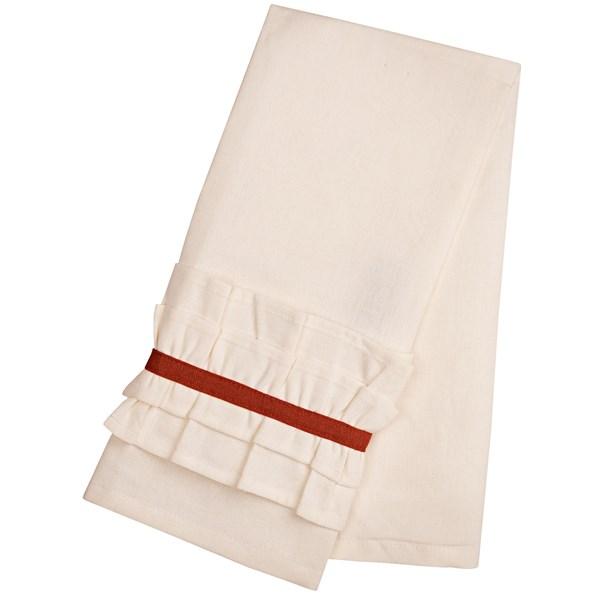 Danica Studio Sasha Ruffle Tea Towel - Cotton-Linen