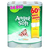 Angel Soft GPC 77239 75239 Premium Bath Tissue, 2-Ply, 198 Sheets/Roll (Pack of 24)
