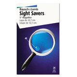 "2x - 4x Round Handheld Magnifier W/acrylic Lens, 5"" Diameter"