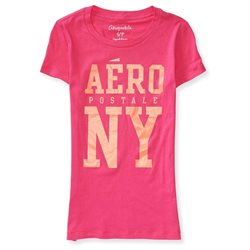 Aeropostale Juniors Bold Sparkle Text Embellished T-Shirt 662 XS
