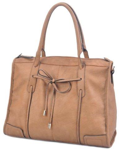 LSQ00617BR Brown Deyce 'Mia' Quality PU Close-Out High Quality Women/Girl Fashion Designer Work School Office Lady Student Handbag Shoulder Bag Purse Totes Satchel Clutches Hobos