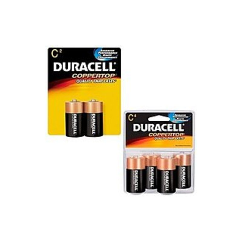Duracell Coppertop Mn1400r4z 1400 C Size Alkaline General Purpose Battery - 4 Per Pack