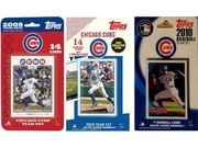 C & I Collectables Cubs3ts Mlb Chicago Cubs 3 Different Licensed Trading Card Team Sets
