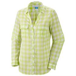New Columbia L/S Sun Drifter Tippet Gingham M Womens Shirt